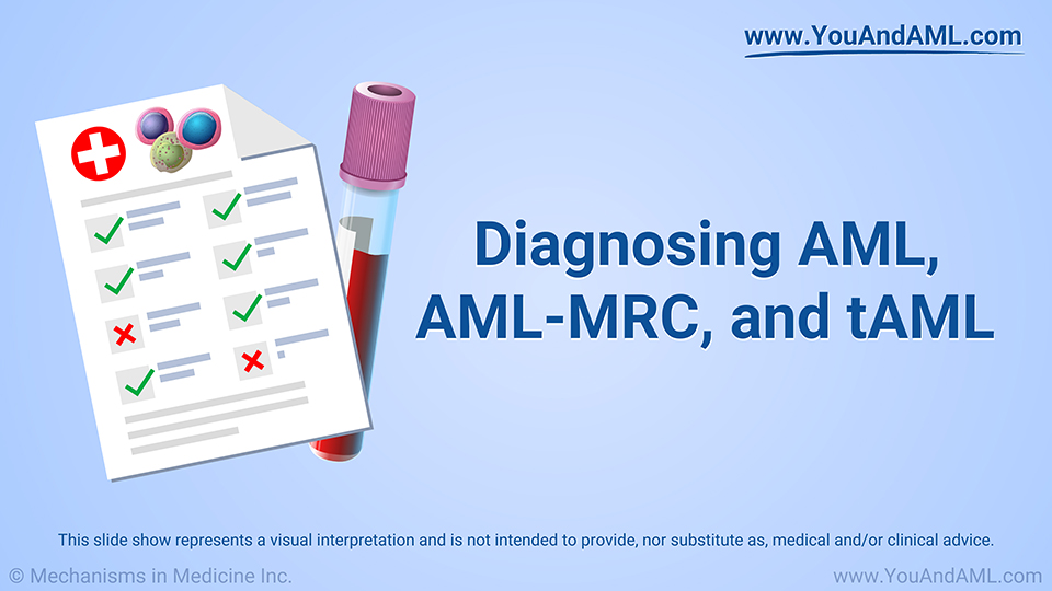 Diagnosing AML, AML-MRC, and tAML
